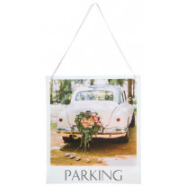 Pancarte Wedding Parking