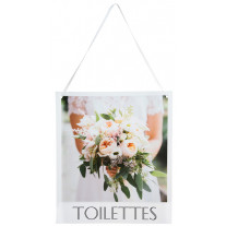 Pancarte Wedding Toilettes
