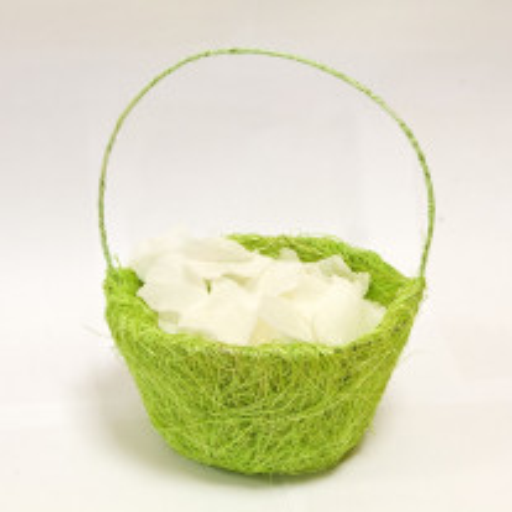 Panier à pétales sisal vert anis