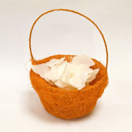 Panier à pétales sisal orange