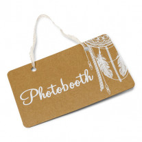 Panneau a suspendre Photobooth kraft
