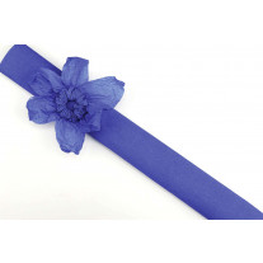 Papier crépon Bleu Foncé en rouleau 10 m x 50 cm
