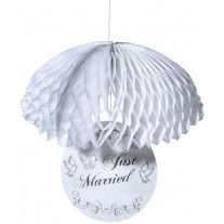 Parachute decoration mariage Just Married