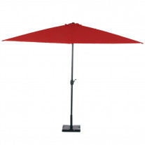 Parasol rectangulaire 3x2m aluminium Rouge