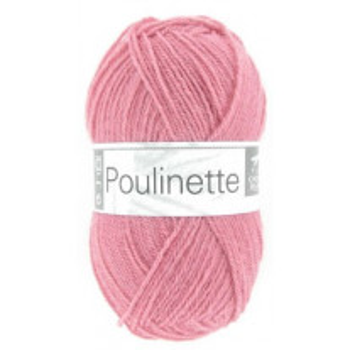 Pelote de laine Bébé Poulinette Rose Bonbon
