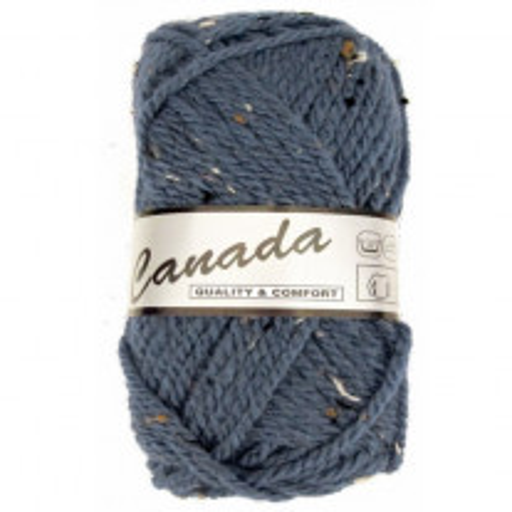 Pelote de laine lammy canada tweed bleu ciel