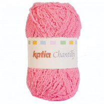 Pelote de laine layette Katia Chantilly rose bonbon
