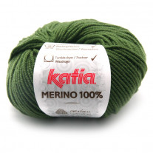 Pelote de laine Mérino 100 % Vert Kaki
