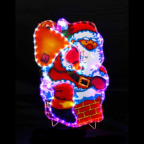 Pere Noel lumineux 96 LED Multicolores