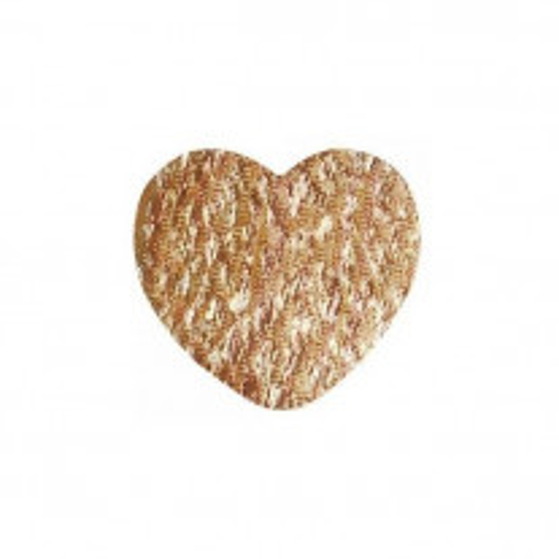 Pétale coeur métalilsé