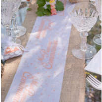 petit chemin de table communion corail