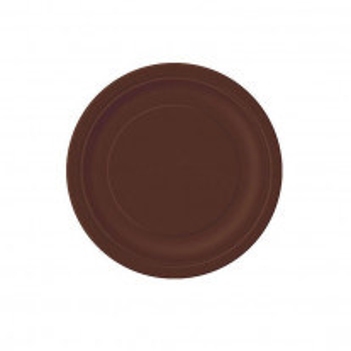Petite assiette en carton ronde Chocolat