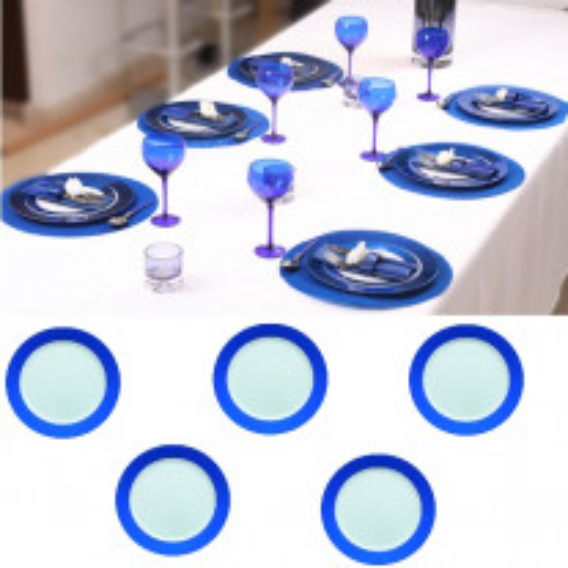 Petite assiette plastique Daytona Bleu marine