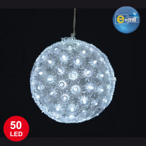 Petite boule noel lumineuse 50 LED Blanc