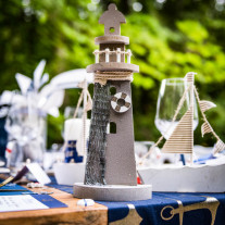 Phare decoration mariage theme Mer 30cm
