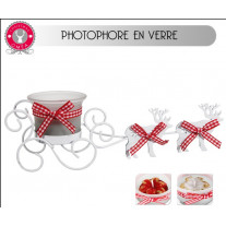 Photophore de table de Noel avec Rennes