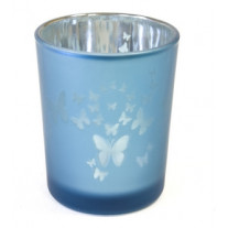 Photophore Decor papillon Turquoise