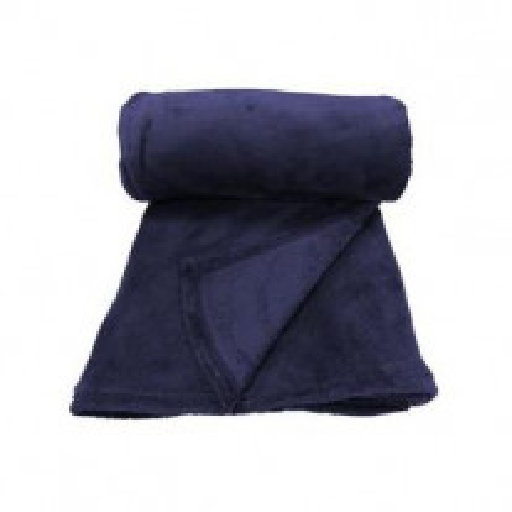 Plaid Moelleuse Bleu Marine 125x150cm