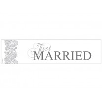Plaque d'Immatriculation Mariage Just Married Argent