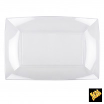 Plateau en plastique rectangulaire Transparent
