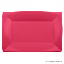 Plateau plastique rectangle Corail