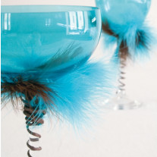 Plume de décoration Turquoise 7cm