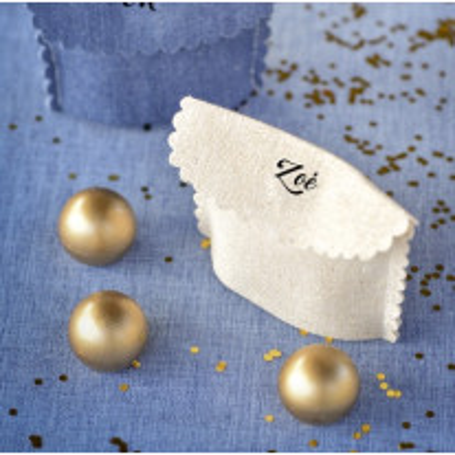 Pochette mariage en coton Blanc