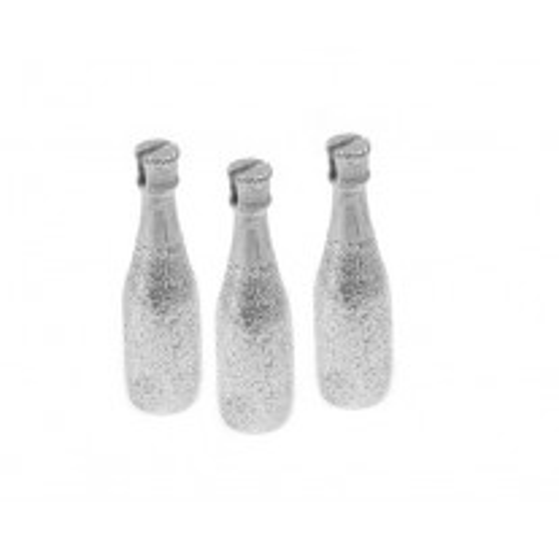 Porte nom bouteille de champagne Argent