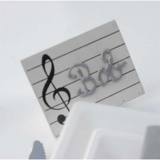 Porte Nom Ardoise Musique Blanc