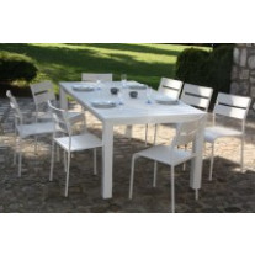Salon de jardin Mykonos en métal blanc