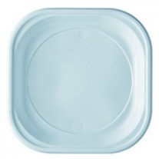 20 assiettes carrés blanches 20x20cm