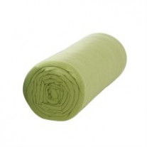 Drap housse 160x200 cm Vert Anis 100% coton