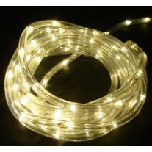 Guirlande LED en tube blanc chaud 18 mètres
