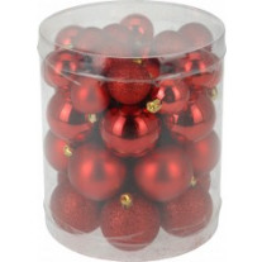 Boules de noel rouge x40