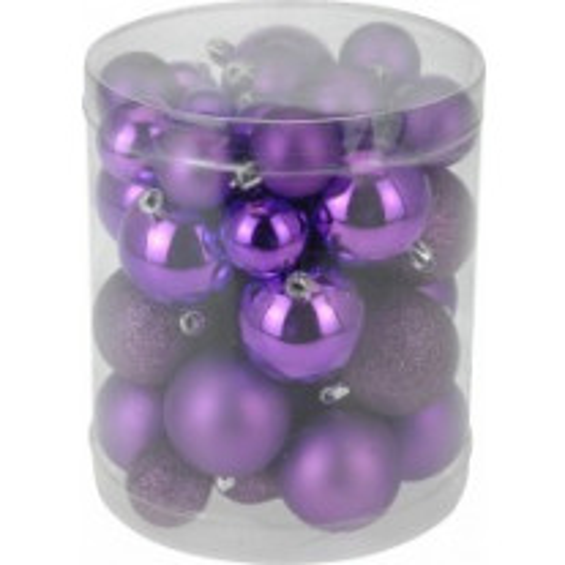 Boules de noel violet x40