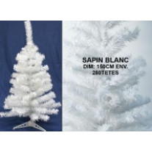 Sapin Artificiel de Noel Blanc 150 cm 280 Branches