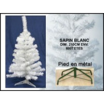 Sapin Artificiel Blanc 210 cm 600 Branches