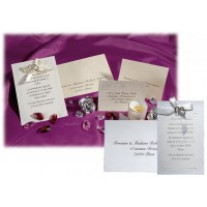 Kit complet d'invitation Coeur Relief