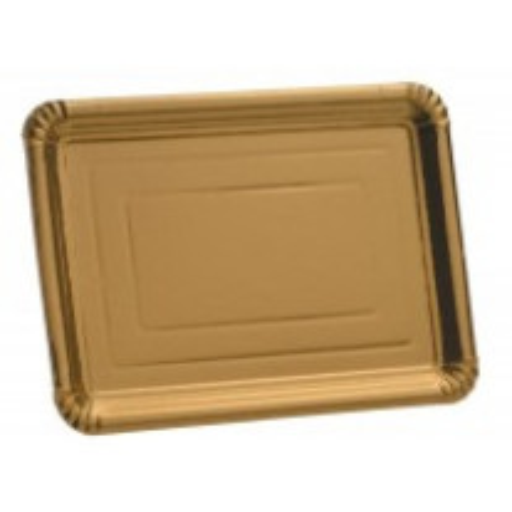 Plateau en carton doré 24 x 33 cm x 5 pièces