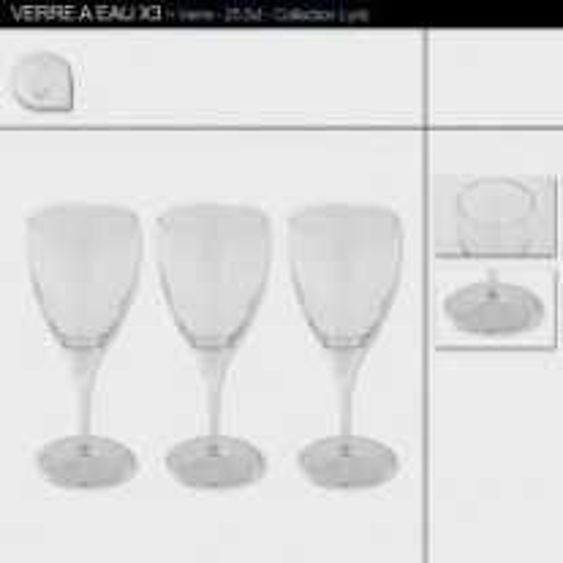 3 Verres à Vin Lyric