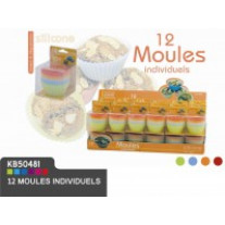 12 mini moules silicone