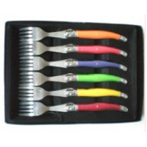 Set de 6 Fourchettes Laguiole Pastel