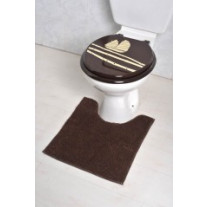 Tapis contour WC Uni marron