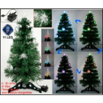 Sapin Fibre optique 11 LED 80cm