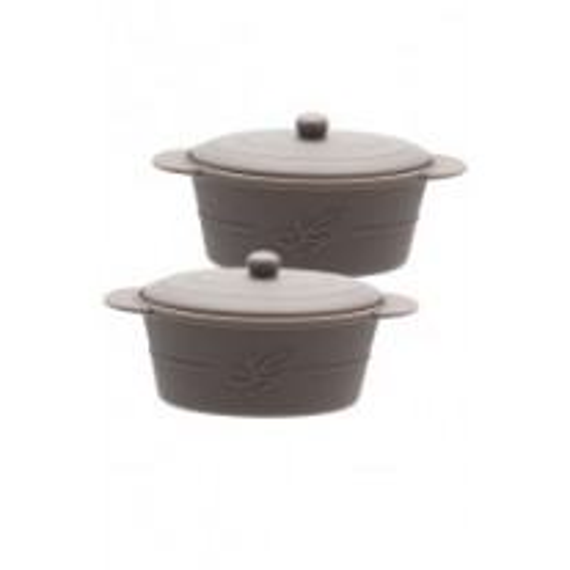 2 mini cocottes ovales en silicone