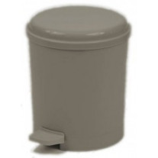Poubelle plastique Grise à pédale 4.5L