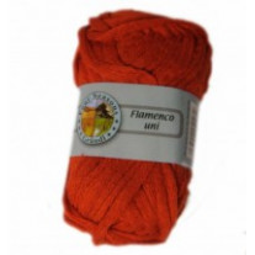 Pelote de laine echarpe Flamenco Brique