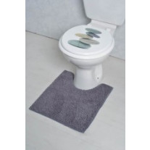 Tapis contour WC Gris uni