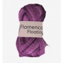 Pelote de laine flamenco floating Mauve