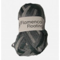 Pelote de laine flamenco floating gris
